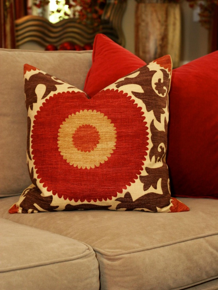 Mesmerizing Throw Pillows For Couch With Red Orange Sunshine And Sofa For Living Room With Decorative Throw Pillows For Couch