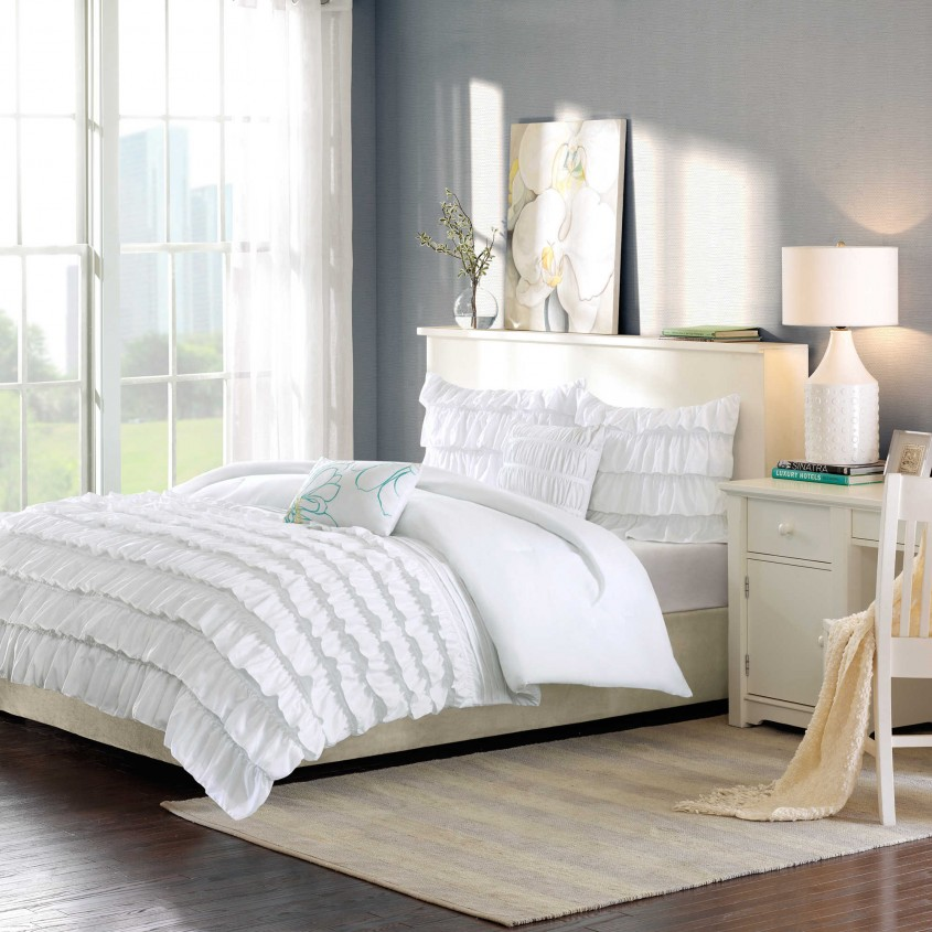 Mesmerizing White Comforter Sets For Charming Bedroom Ideas With White Comforter Sets Queen
