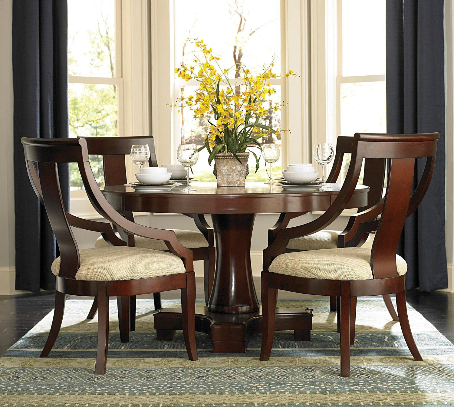 Miraculous pedestal dining table and chairs for dining room with round pedestal dining table