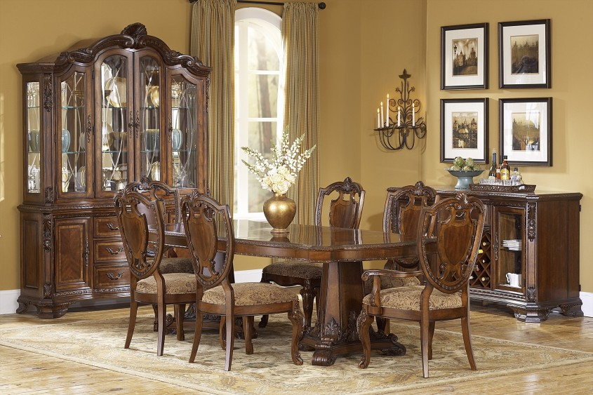Nice Formal Dining Room Sets With Buffet And Ceiling Light For Dining Room With Modern Formal Dining Room Sets