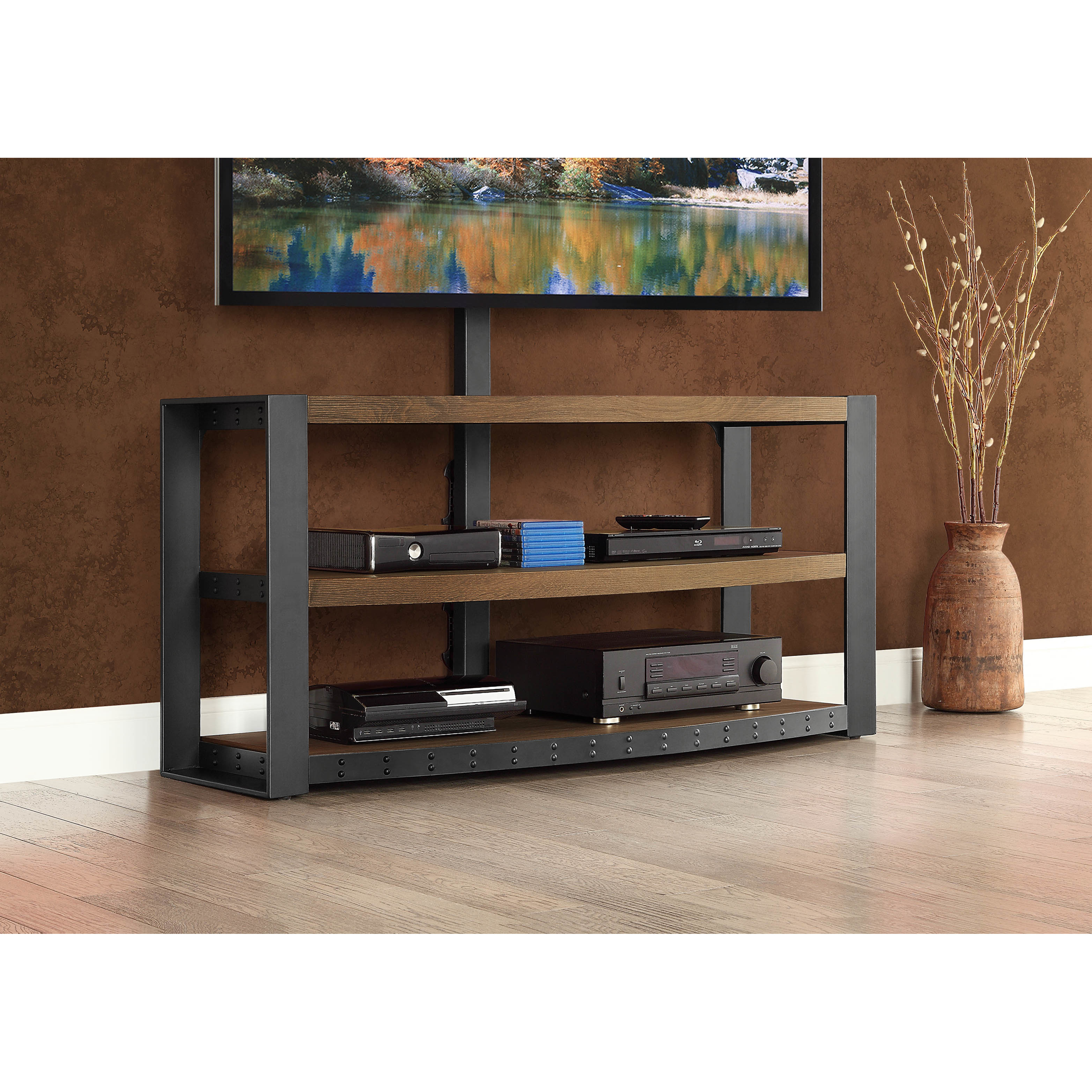 Pretty whalen tv stand for home furniture design with whalen 3-in-1 tv stand