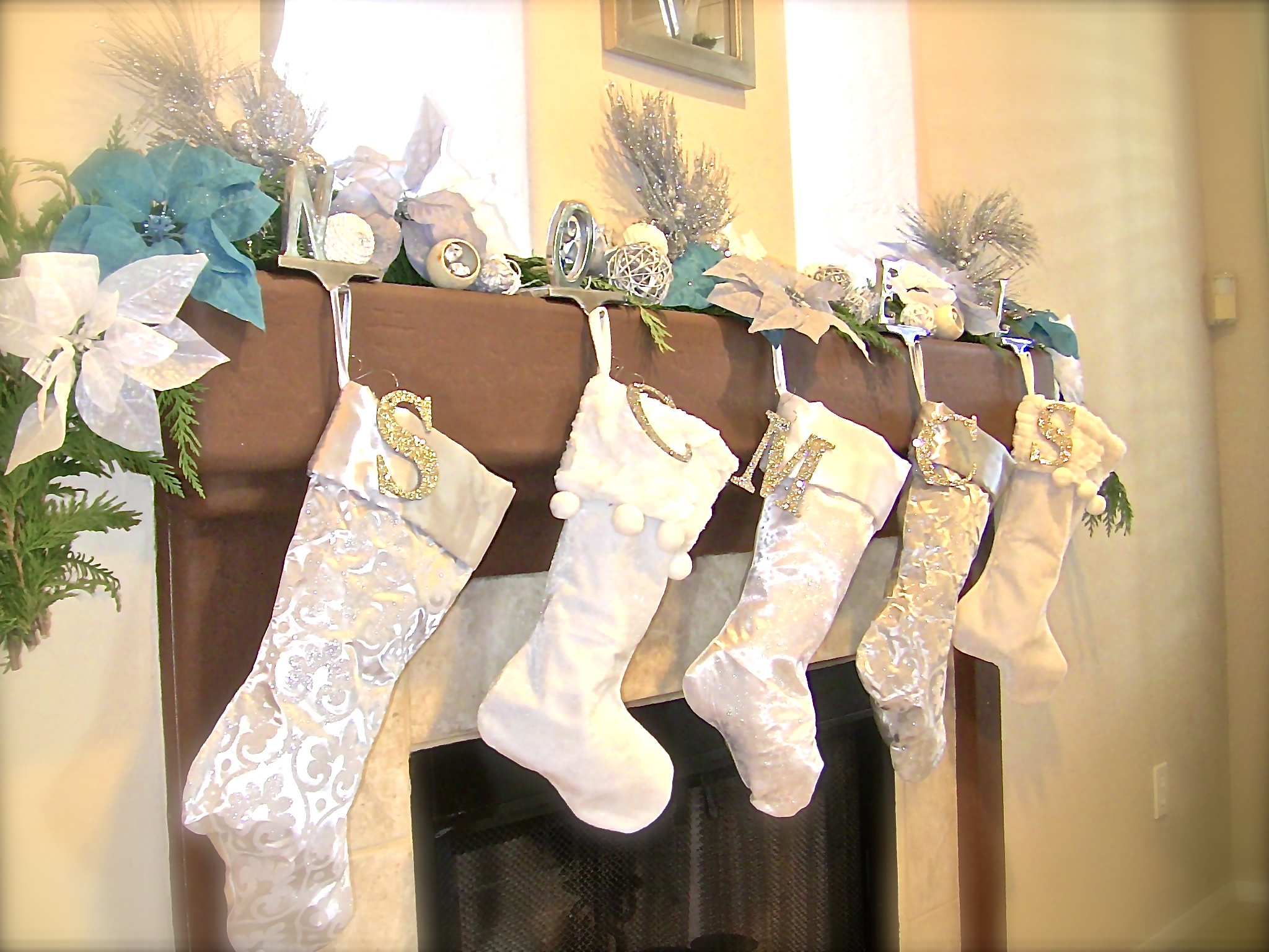Simple stocking holder for interior decor ideas with christmas stocking holders