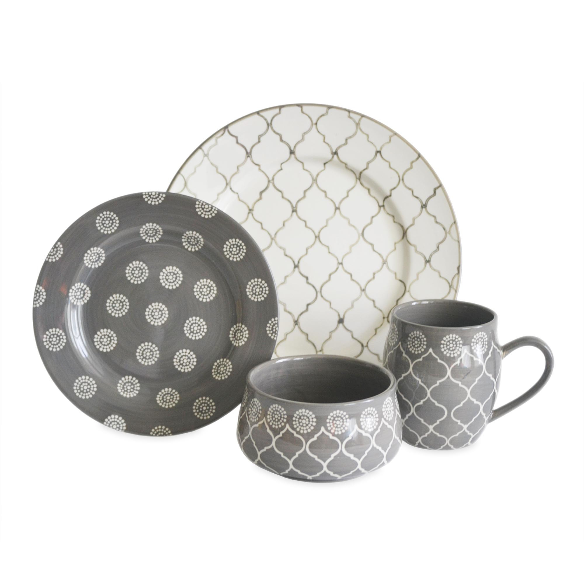 Stylish stoneware dinnerware for kitchen and dining sets with stoneware dinnerware sets