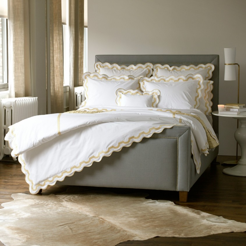 Wonderful Matouk Sheets With Pillows And Round Granite Table On Laminate Flooring For Bedroom With Matouk Sheets Sale