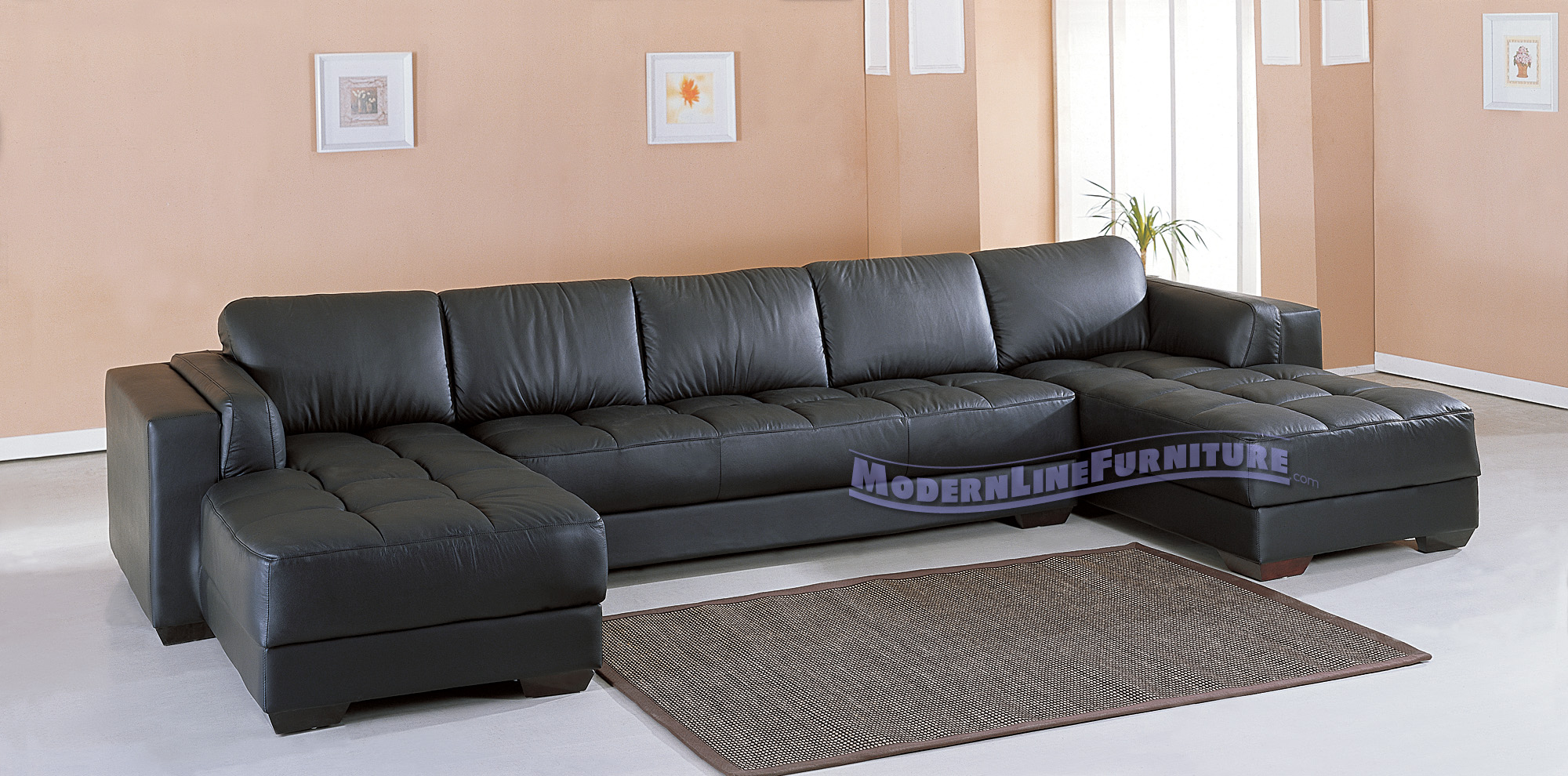 Alluring black leather sectional for elegant living room design with black leather sectional sofa