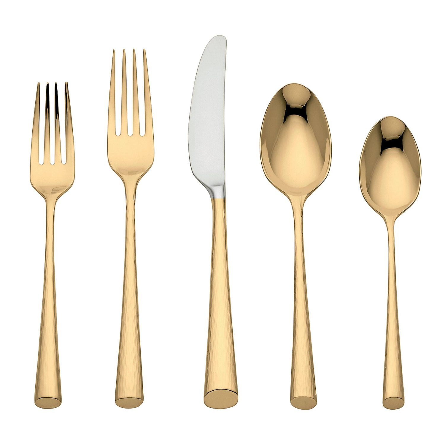 Amazing gold flatware for kitchen and dining sets ideas with gold flatware set