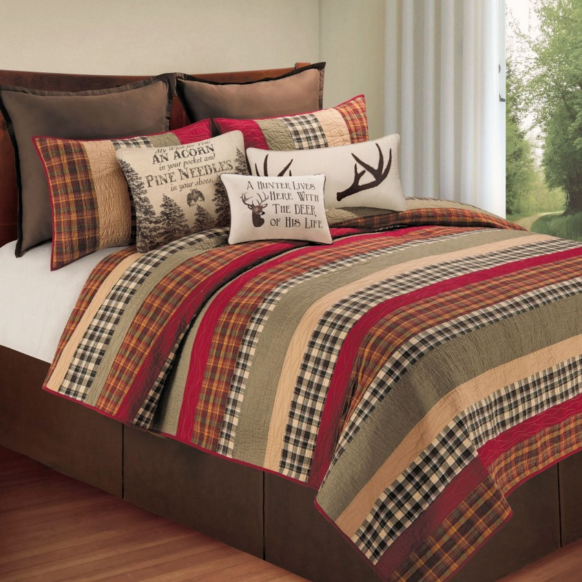 Amazing Plaid Bedding For Simple Bedroom Design With Ralph Lauren Plaid Bedding