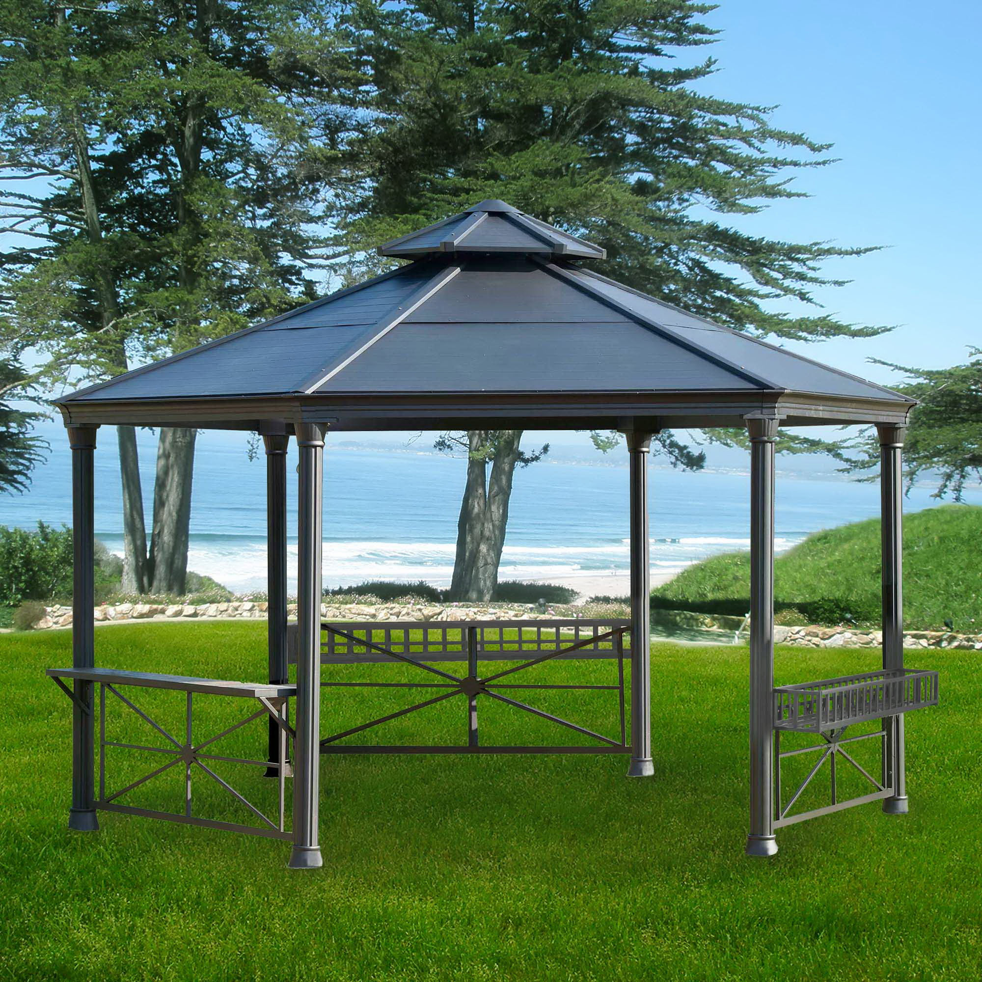 Amazing sunjoy gazebo for garden ideas with sunjoy hardtop gazebo and sunjoy grill gazebo