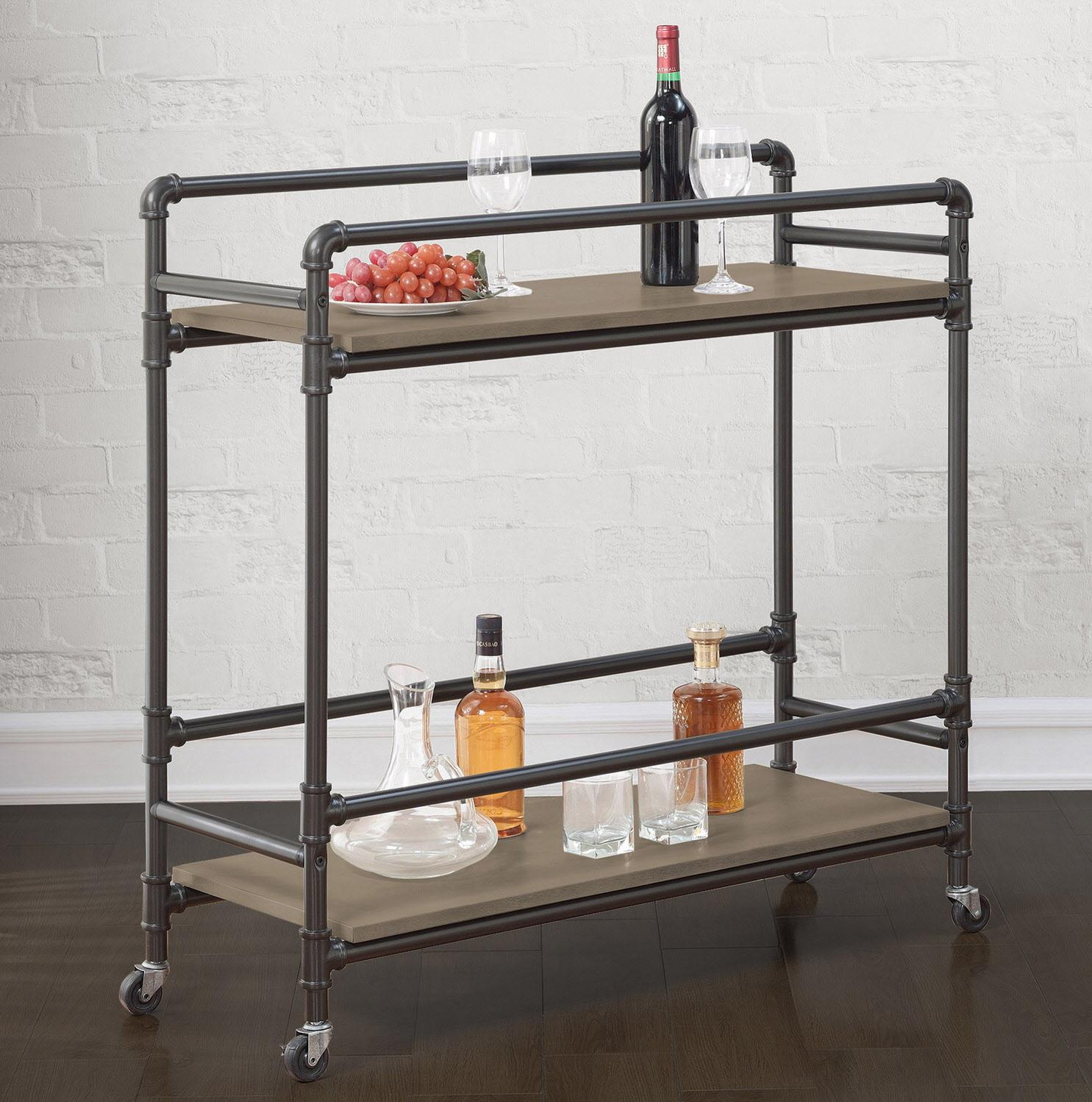 fresh11 - bar cart - Stockton Industrial Bar Cart, $219.99 at overstock.com.