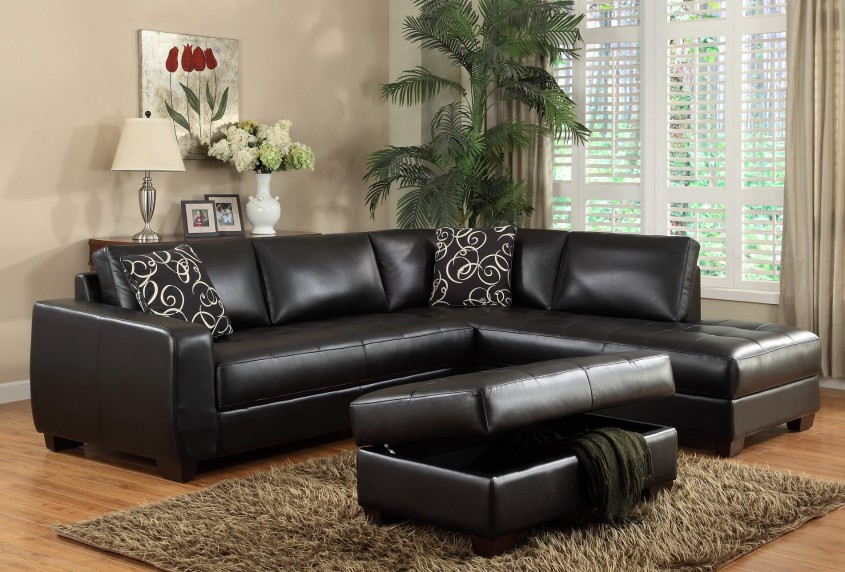 Black Leather Sectional Sofa With Chaise Has One Of The Best Kind Of Other Is Dark Brown Bonded Leather Sectional Sofa With Solid Brass