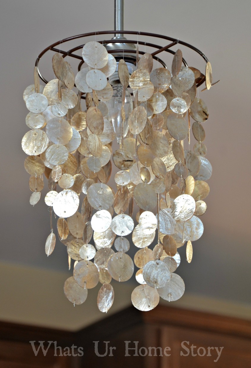 Attractive Capiz Chandelier For Home Lighting Design With Rectangular Capiz Chandelier