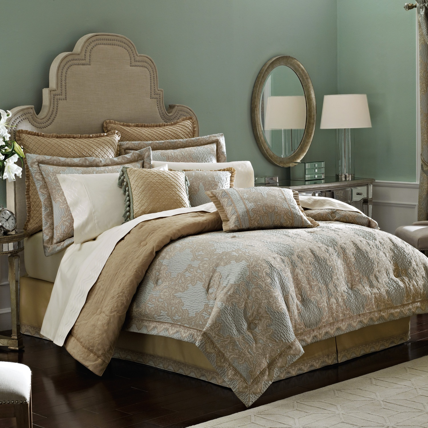 Attractive comforters sets for bedroom design with queen comforter sets