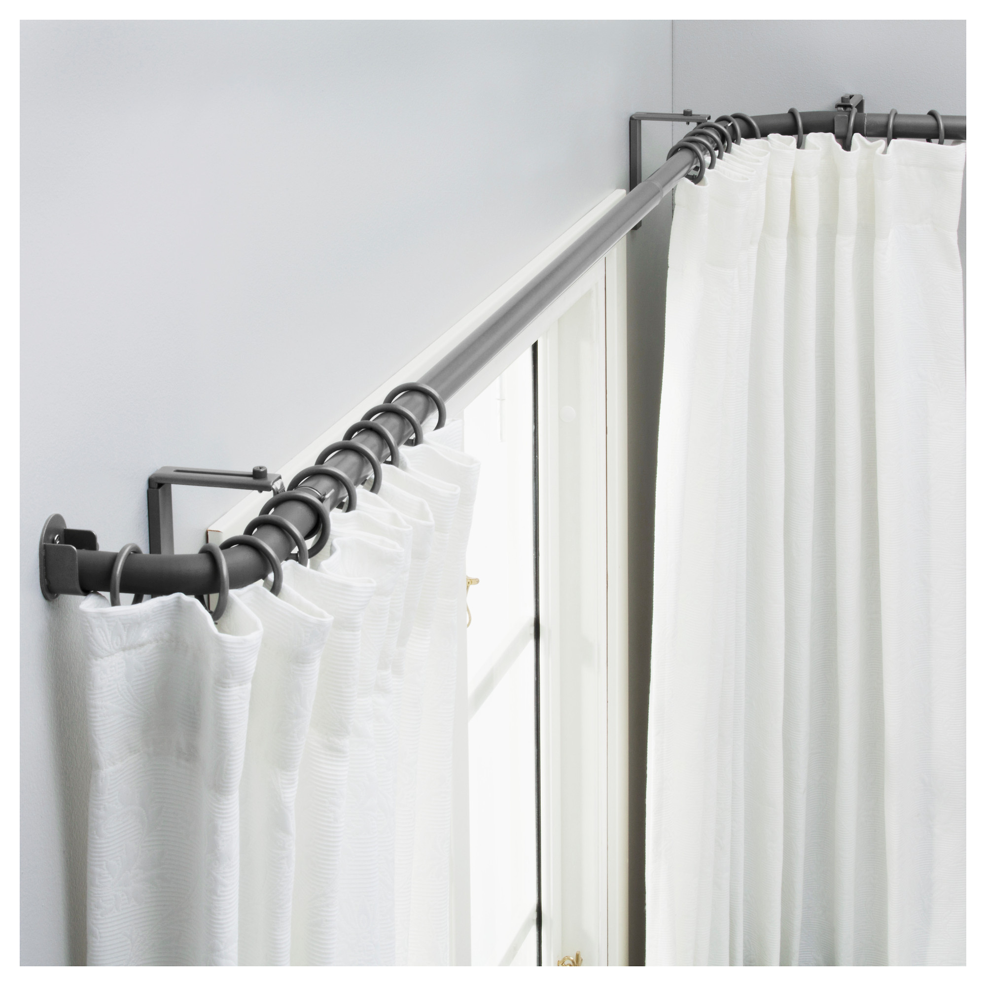 Attractive ikea curtain rods for home decor ideas with ikea double curtain rod and ceiling curtain rods ikea