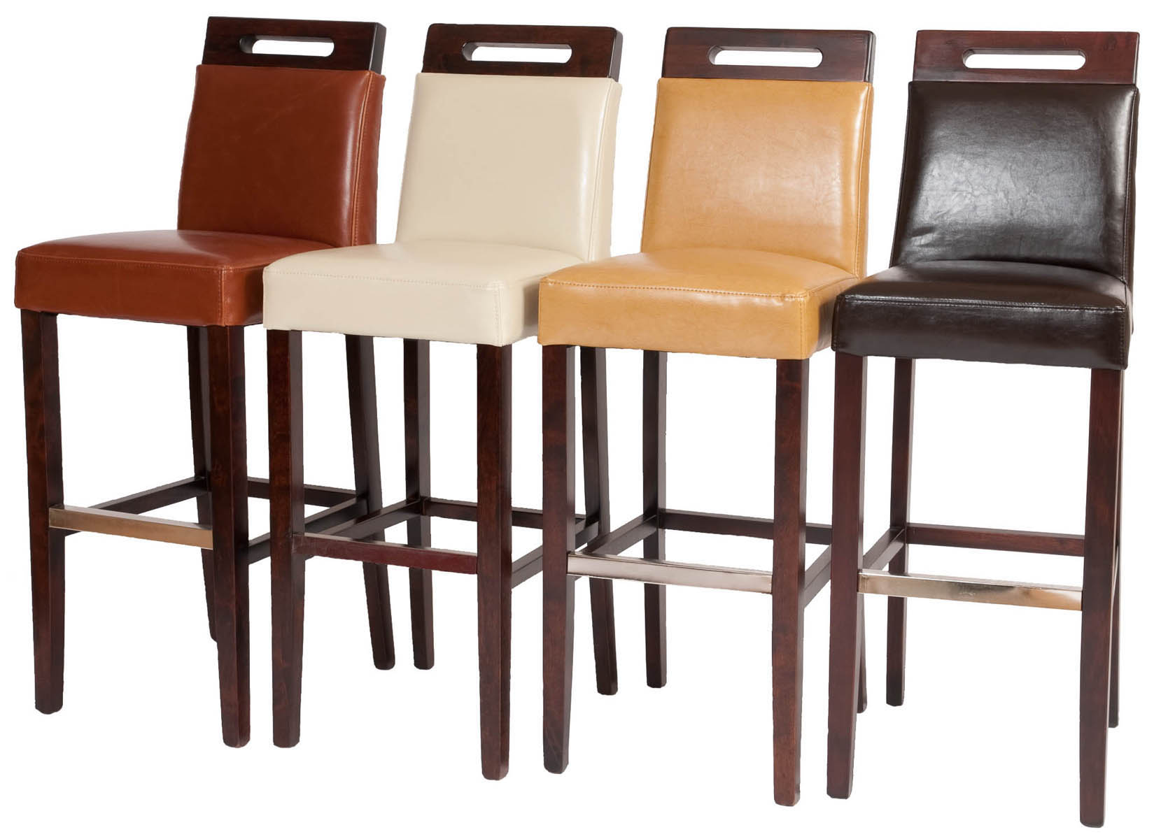 Attractive leather bar stools for home furniture with leather swivel bar stools