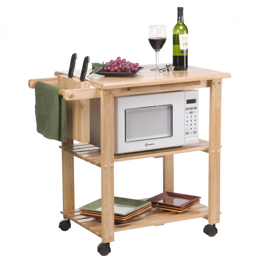 Attractive Microwave Cart Ikea For Kitchen With Microwave Cart With Storage Ikea