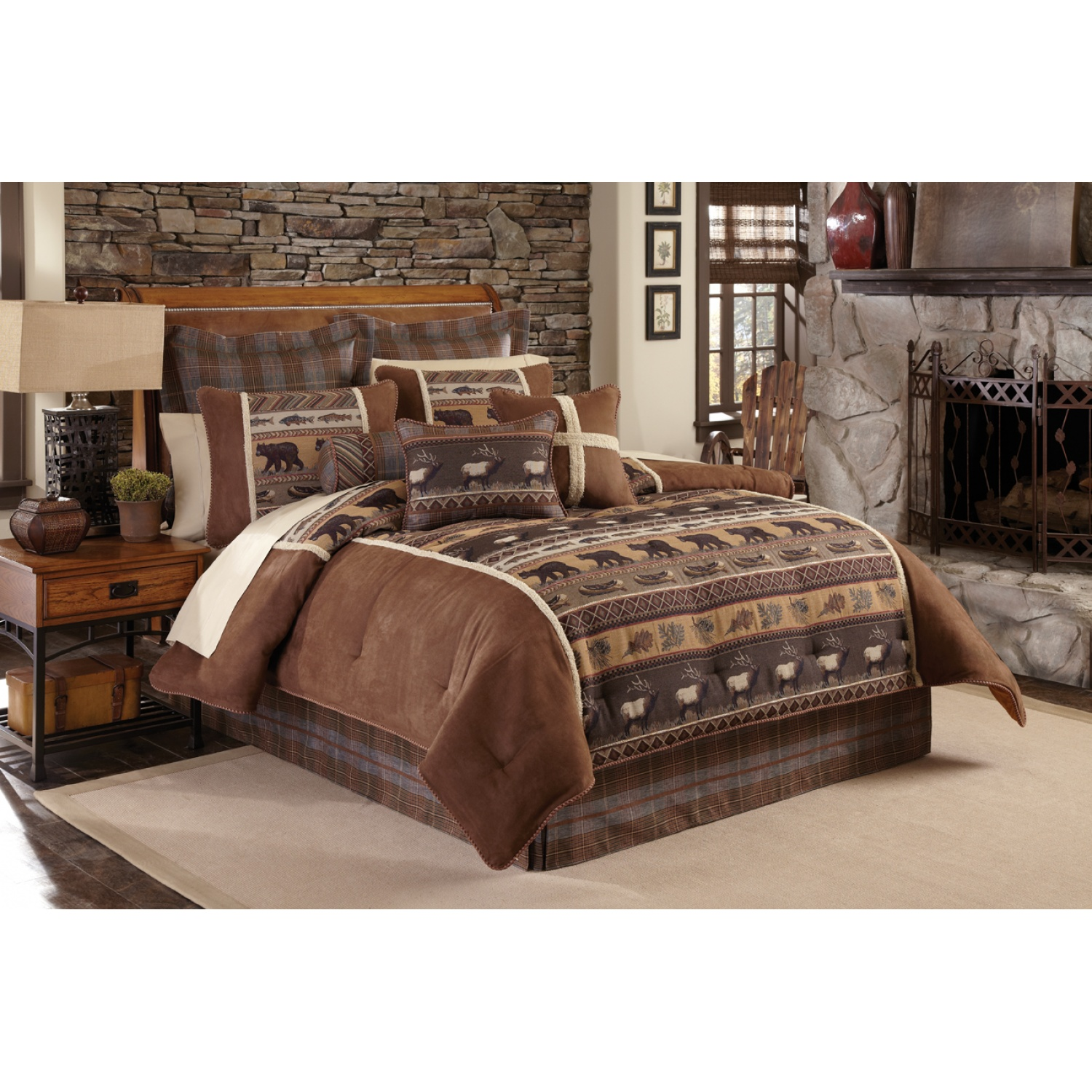 Attractive queen size comforter sets for bedroom design with cheap queen size comforter sets