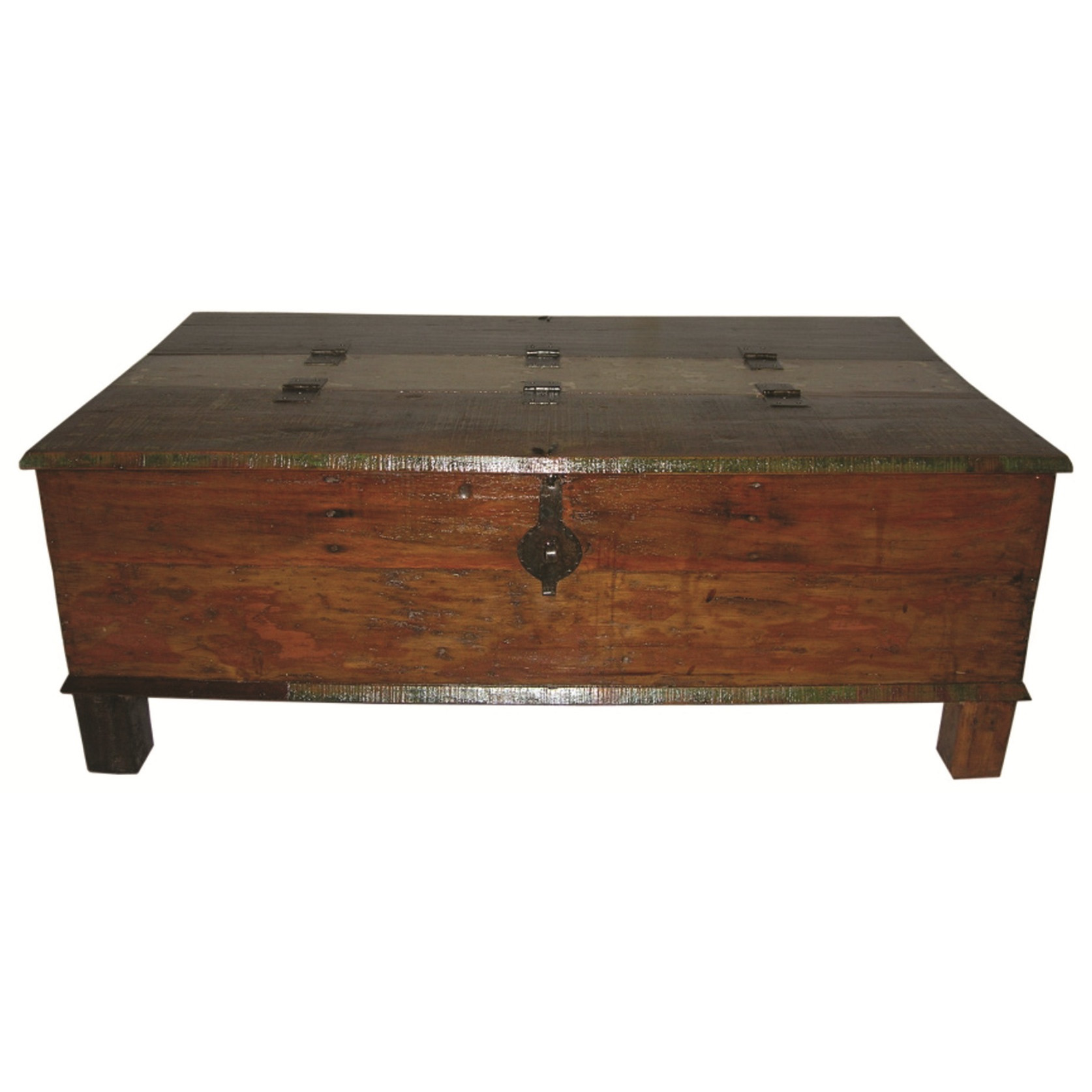 Attractive trunk coffee table for classic home furniture with storage trunk coffee table