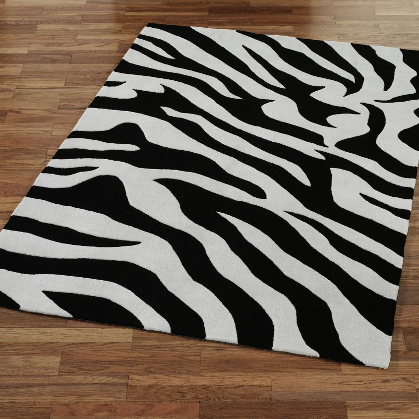Attractive Zebra Rug For Floorings And Rugs Ideas With Zebra Skin Rug