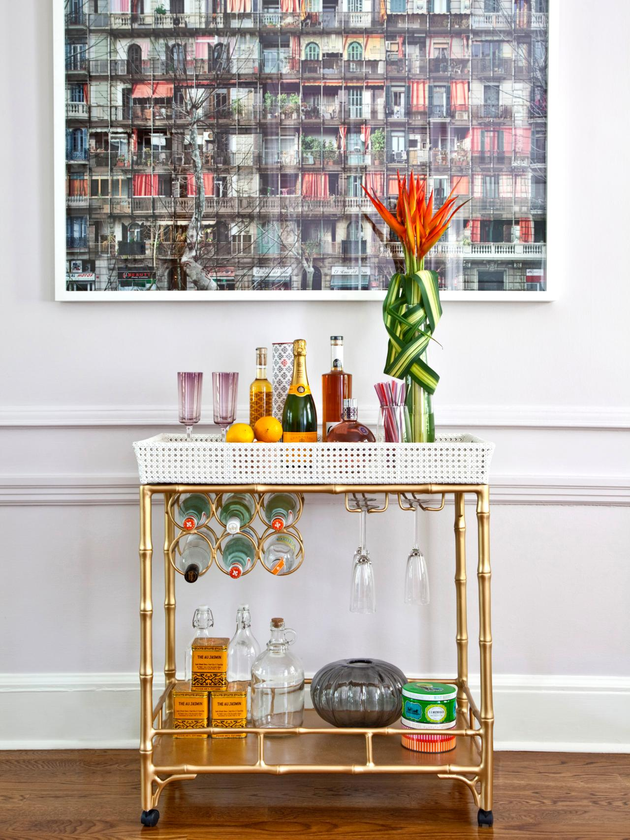 Awesome Bar Carts For Bar Furniture Ideas With Gold Bar Cart And Diy Bar Cart