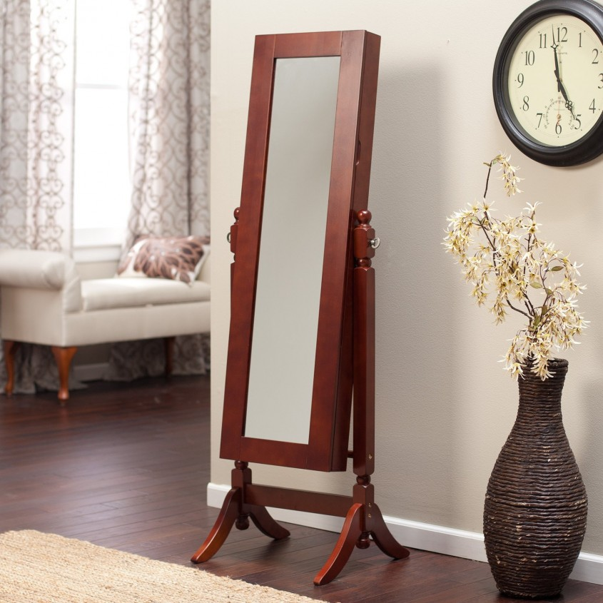 Awesome Cheval Mirror Jewelry Armoire For Vintage Home Furniture With White Cheval Mirror Jewelry Armoire