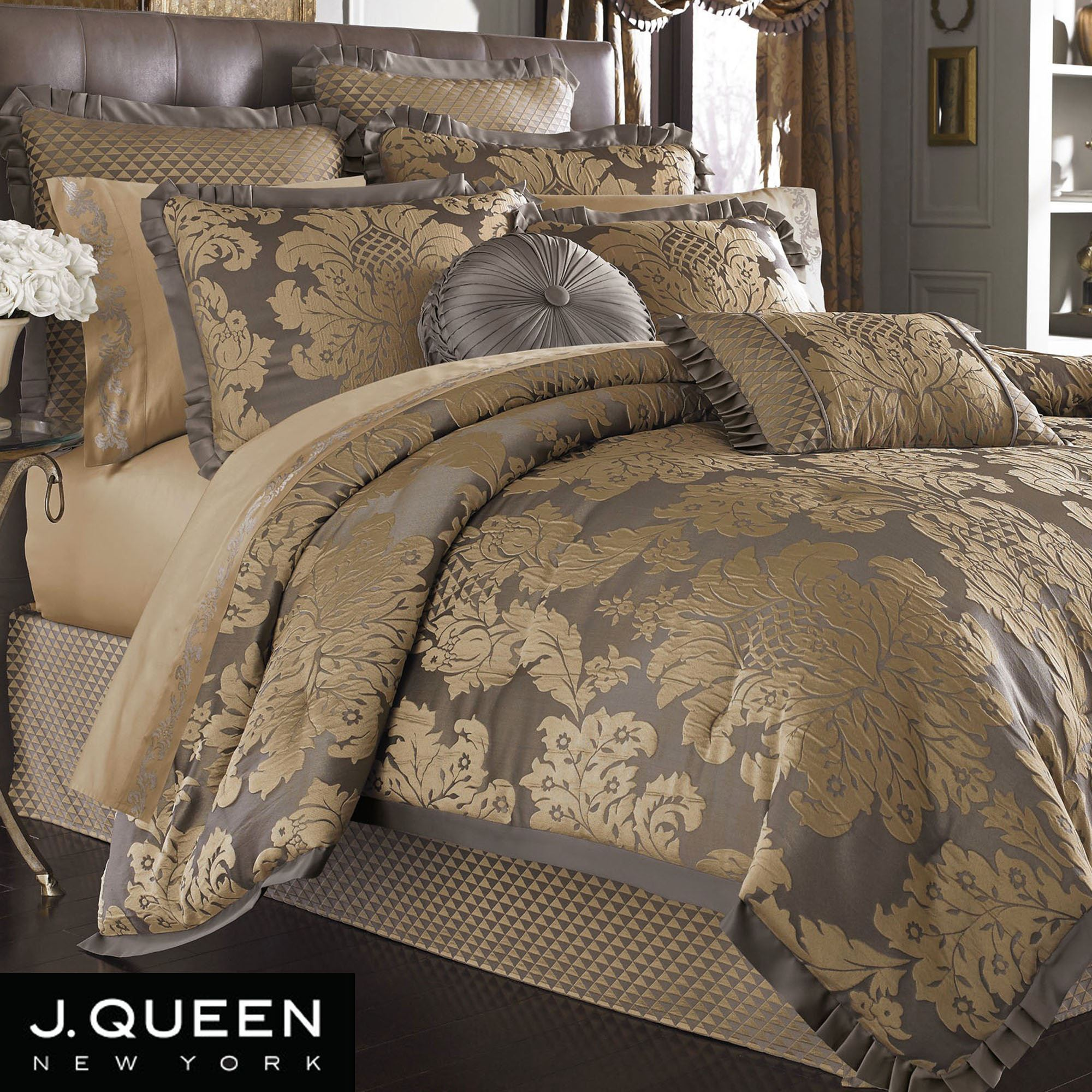 Awesome damask bedding for bed decorating ideas with damask bedding set and damask crib bedding