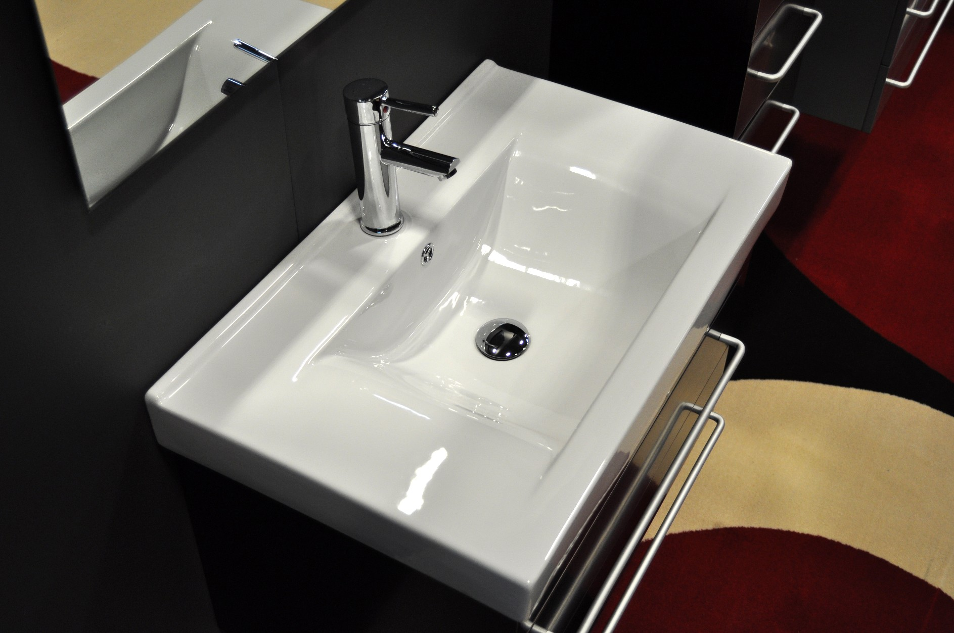Awesome mirabelle sinks with stainless steel-faucet and square miror for bathroom with mirabelle undermount sink
