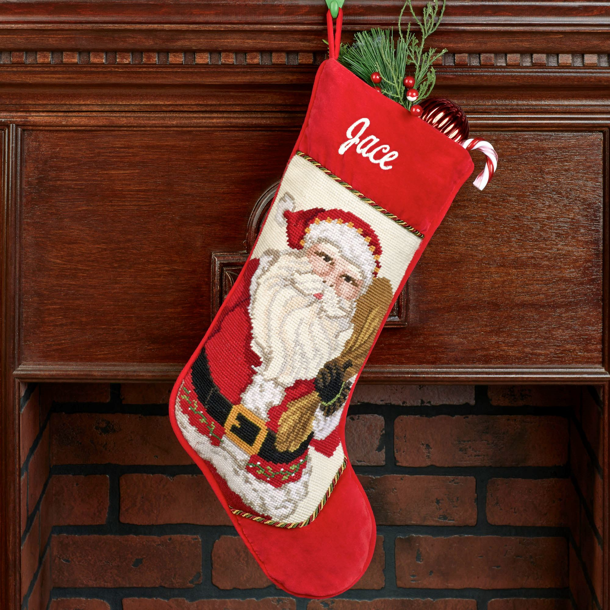 Awesome Personalized Needlepoint Christmas Stockings For Christmas Decorating Ideas With Needlepoint Christmas Stockings Personalized