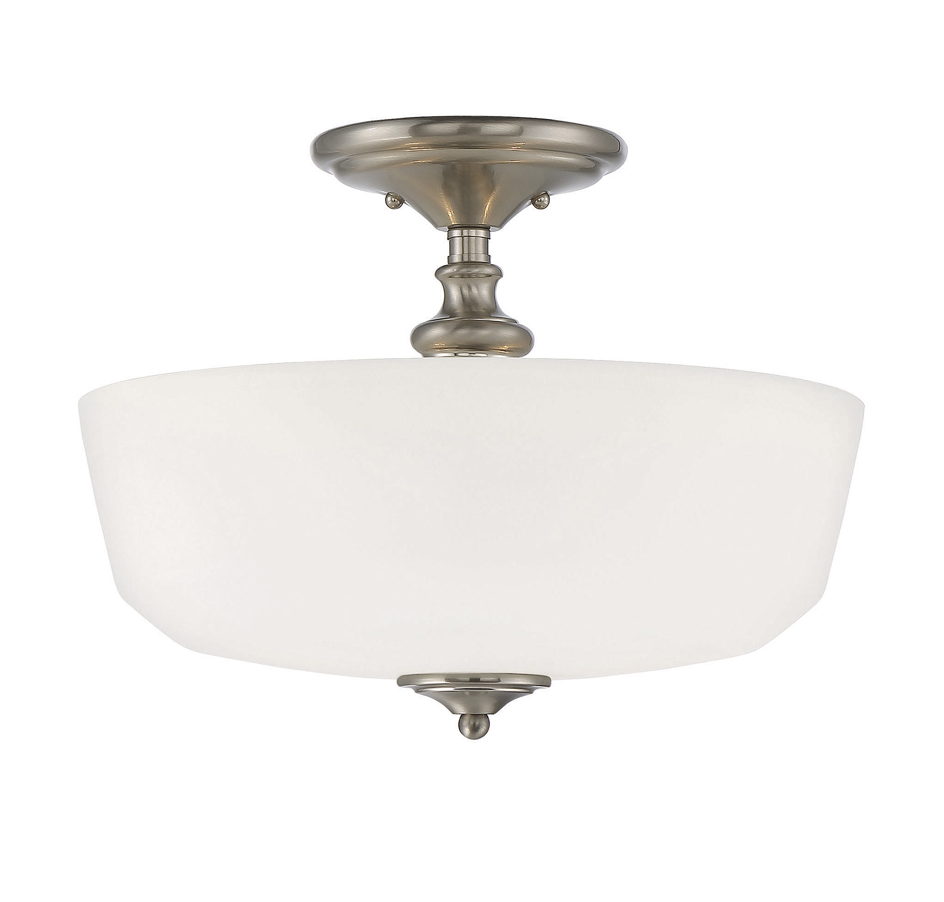 Awesome semi flush ceiling light for home lighting design with brushed nickel semi flush ceiling light