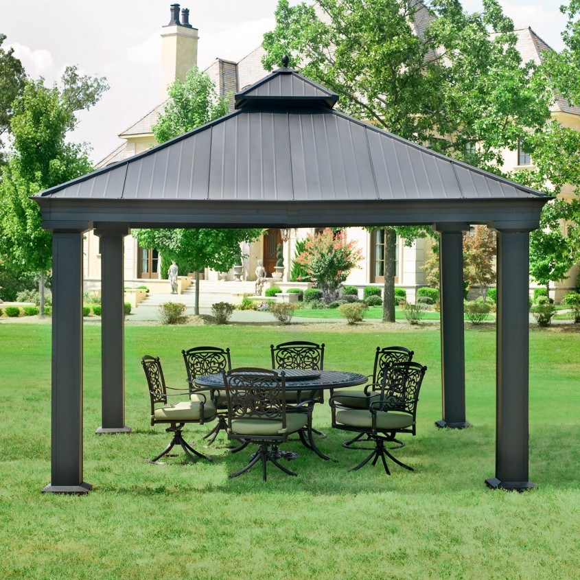 Awesome Sunjoy Gazebo For Garden Ideas With Sunjoy Hardtop Gazebo And Sunjoy Grill Gazebo