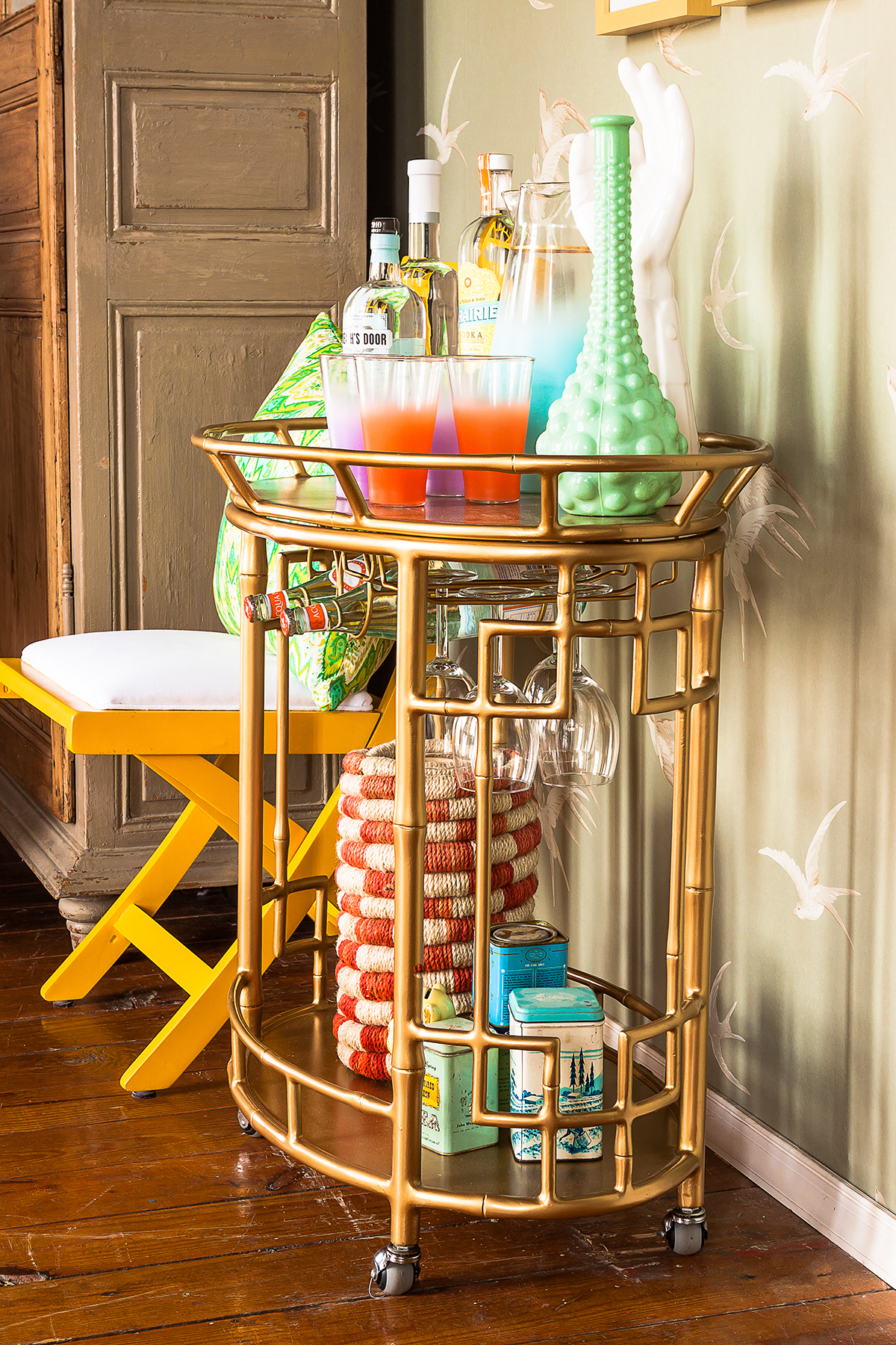 Beautiful bar carts for bar furniture ideas with gold bar cart and diy bar cart