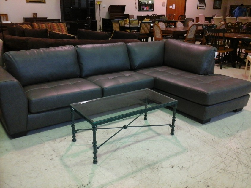 Black Leather Sectional Sofa With Chaise Has One Of The Best Kind Of Other Is Interior Dark Gray Leather Chaise Lounge