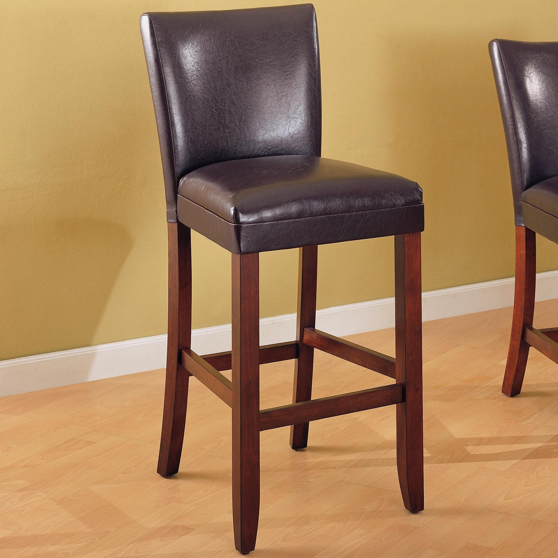 Beautiful leather bar stools for home furniture with leather swivel bar stools