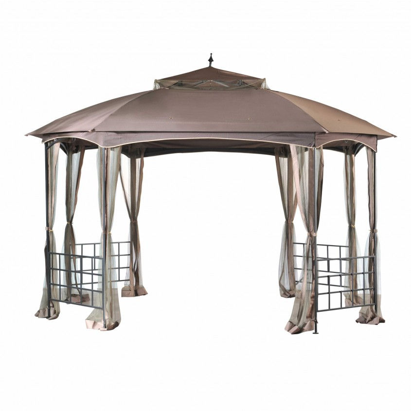 Beautiful Sunjoy Gazebo For Garden Ideas With Sunjoy Hardtop Gazebo And Sunjoy Grill Gazebo