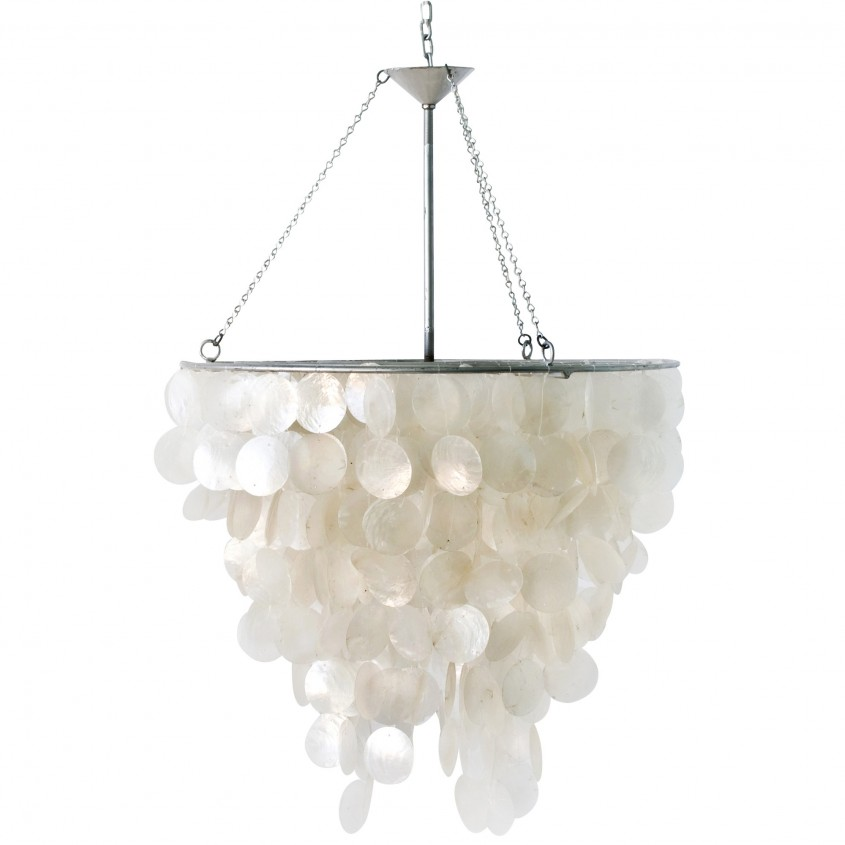 Best Capiz Chandelier For Home Lighting Design With Rectangular Capiz Chandelier