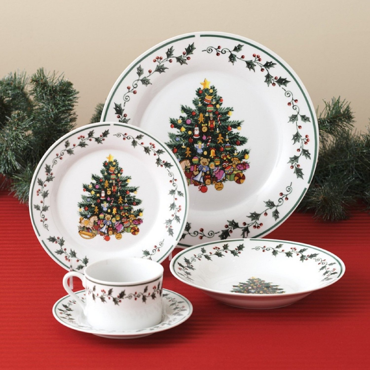 Best christmas dinnerware for christmas decorating ideas with christmas dinnerware sets clearance