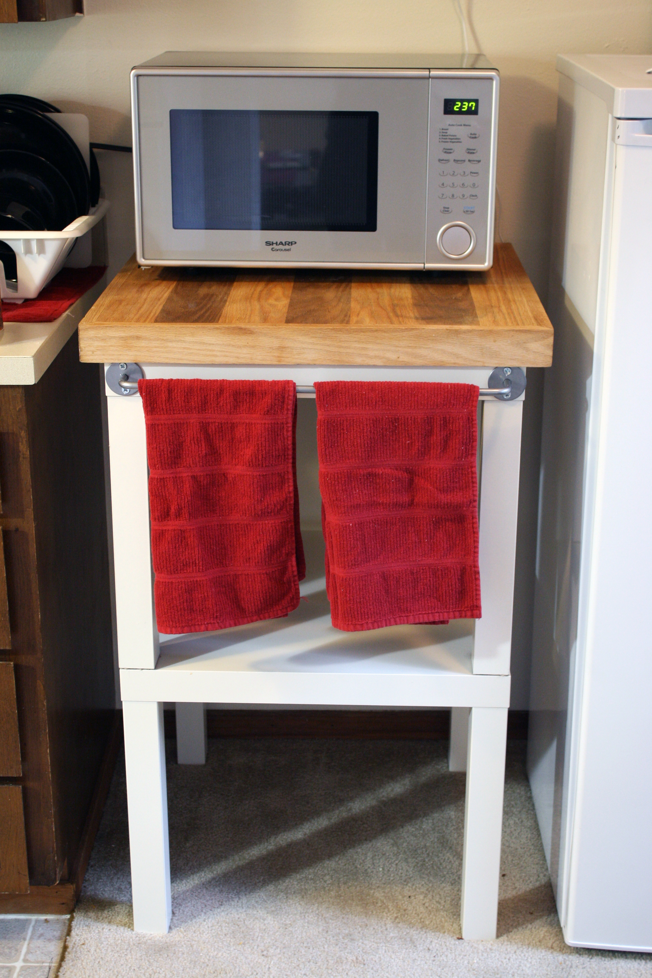 Best microwave cart ikea for kitchen with microwave cart with storage ikea