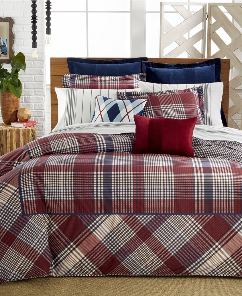Best Plaid Bedding For Simple Bedroom Design With Ralph Lauren Plaid Bedding