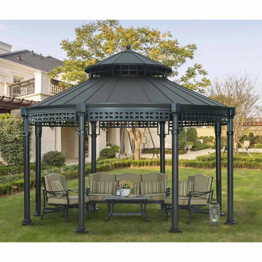 Best Sunjoy Gazebo For Garden Ideas With Sunjoy Hardtop Gazebo And Sunjoy Grill Gazebo
