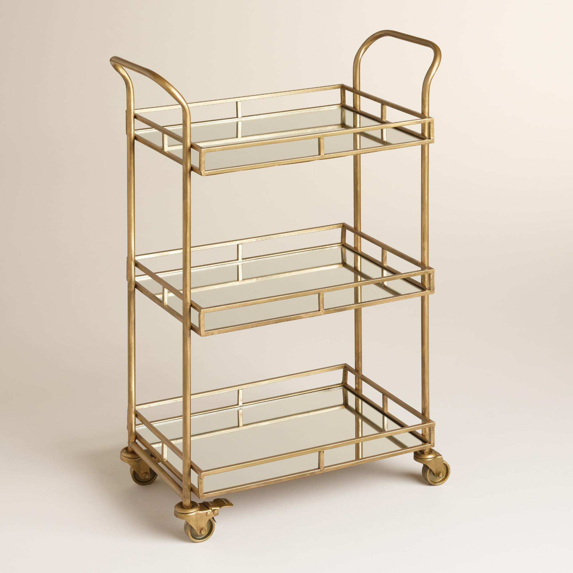 Breathtaking Bar Carts For Bar Furniture Ideas With Gold Bar Cart And Diy Bar Cart