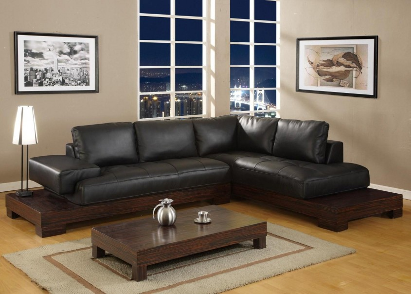 Overstuffed Sectional Sofa Has One Of The Best Kind Of Other Is Cool Black Leather Sectional Sofa