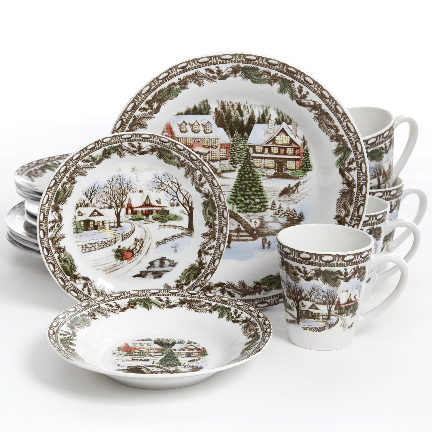 Breathtaking christmas dinnerware for christmas decorating ideas with christmas dinnerware sets clearance