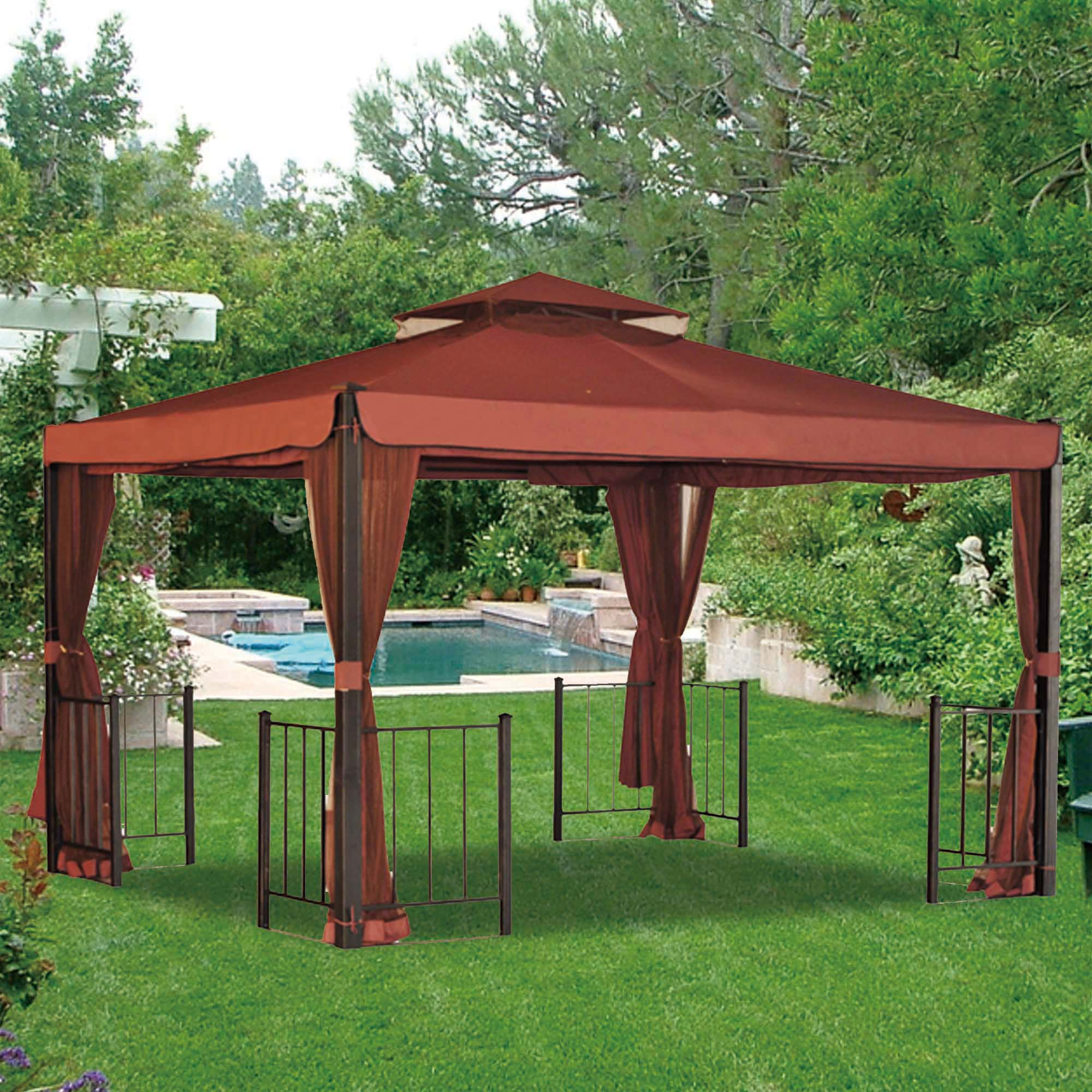 Breathtaking sunjoy gazebo for garden ideas with sunjoy hardtop gazebo and sunjoy grill gazebo
