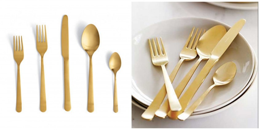 Brilliant Gold Flatware For Kitchen And Dining Sets Ideas With Gold Flatware Set