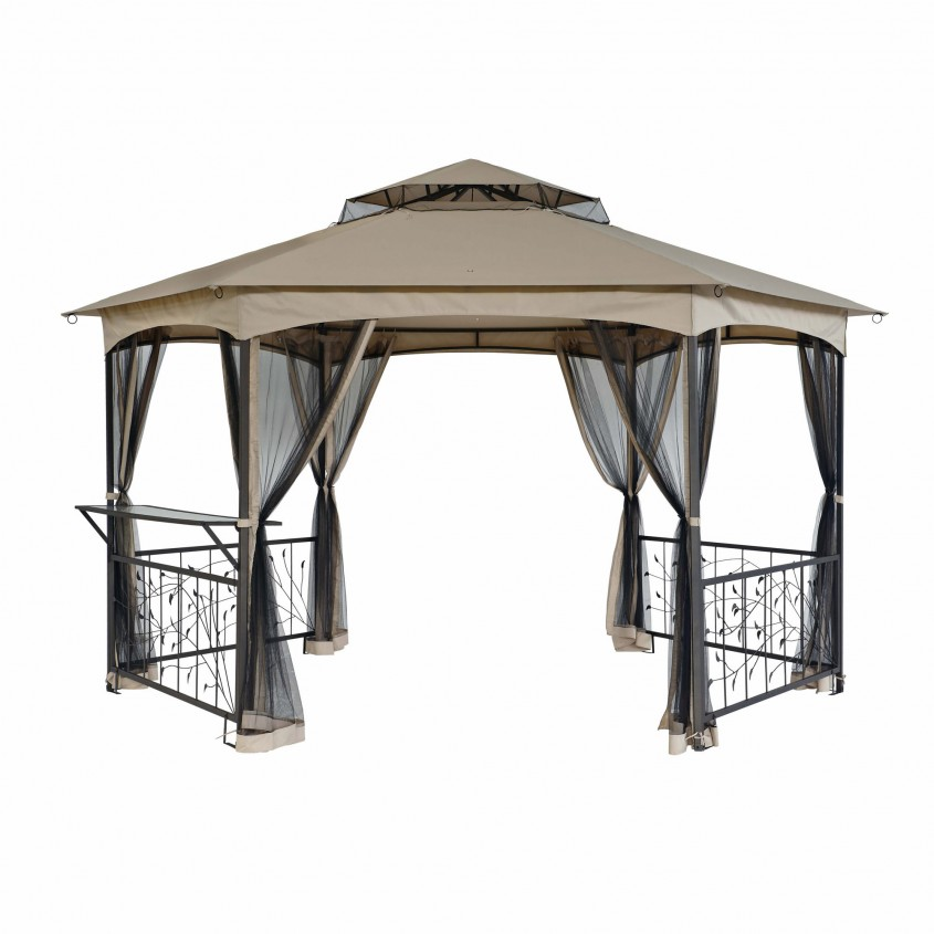 Brilliant Sunjoy Gazebo For Garden Ideas With Sunjoy Hardtop Gazebo And Sunjoy Grill Gazebo