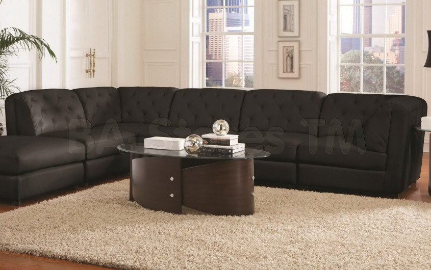 Captivating Black Leather Sectional For Elegant Living Room Design With Black Leather Sectional Sofa