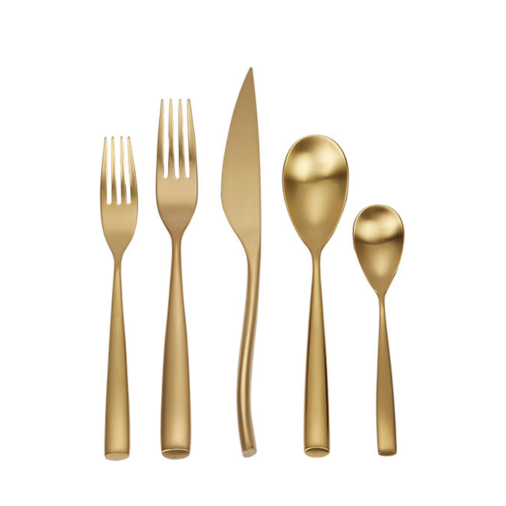 Captivating gold flatware for kitchen and dining sets ideas with gold flatware set