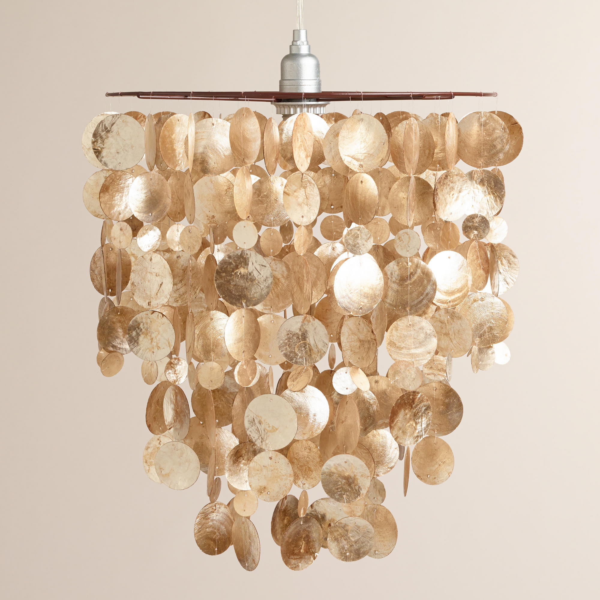 Charming capiz chandelier for home lighting design with rectangular capiz chandelier