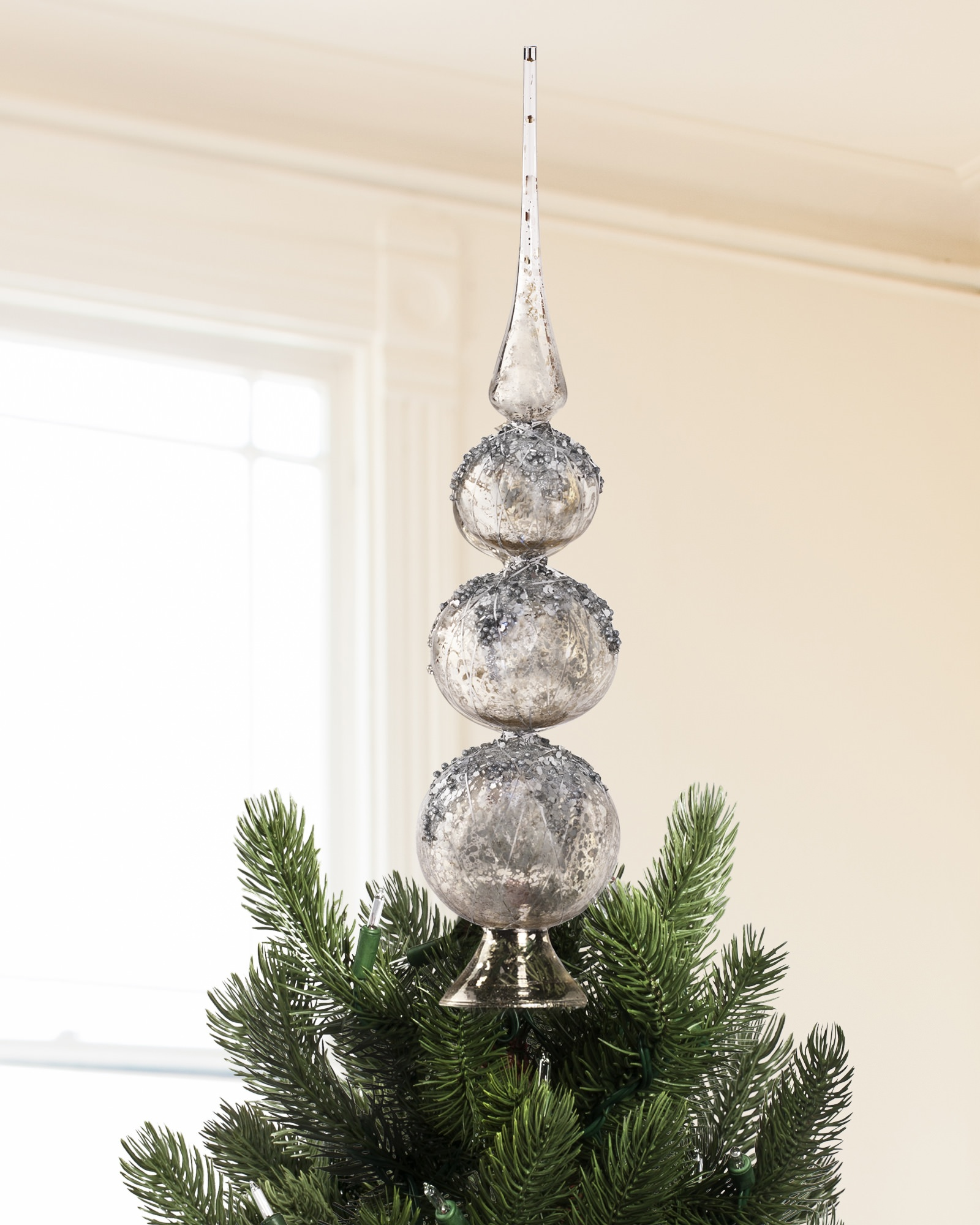 Charming christmas tree topper for christmas decorating ideas with unique christmas tree toppers