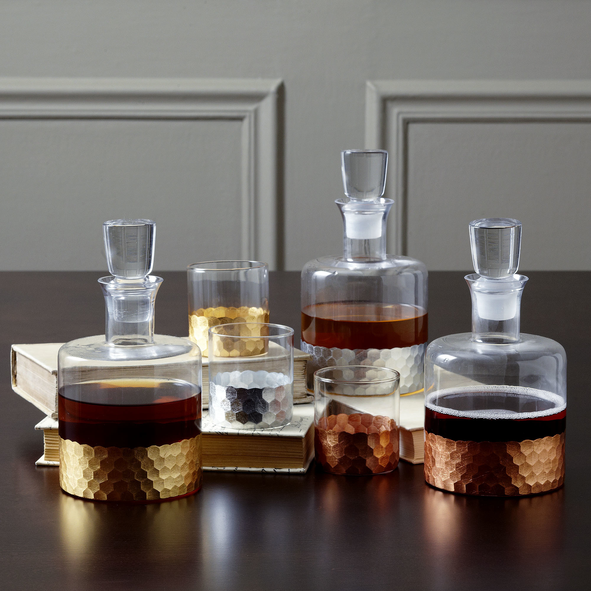 Charming decanter set for dining sets ideas with crystal decanter set