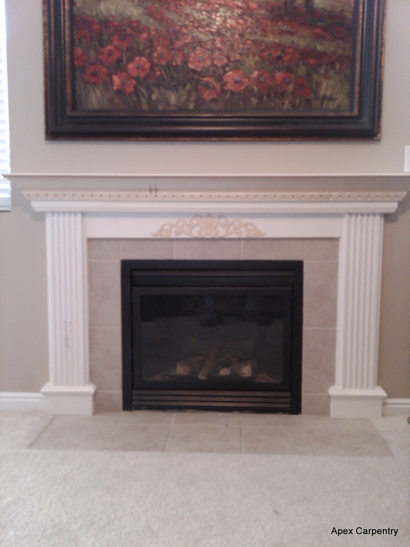 Chic Fireplace Mantle For Interior Living Room With Electric Fireplace With Mantle